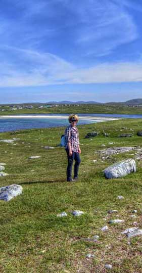 Walking the coastal path at Shawbost in the Hebrides