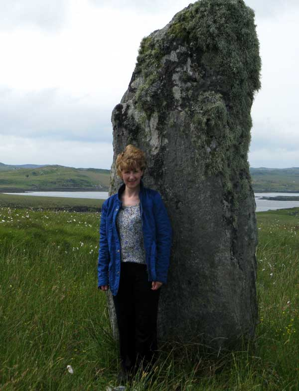 Dollanna your host visiting a stone circle at Callanish