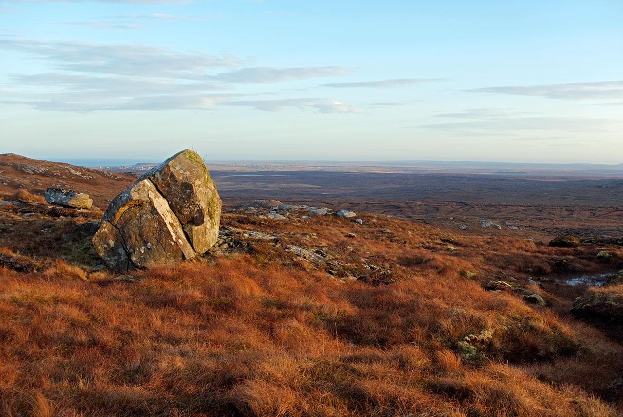 Glacial erratic above Shawbost