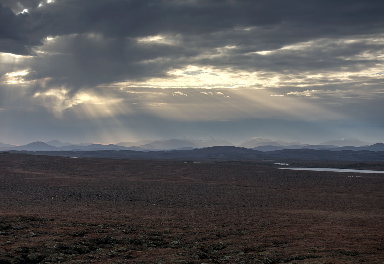View while winter hill walking near Shawbost on the Isle of Lewis