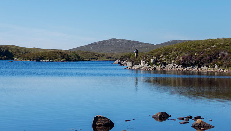 Fishing for trout on an Isle of Lewis loch